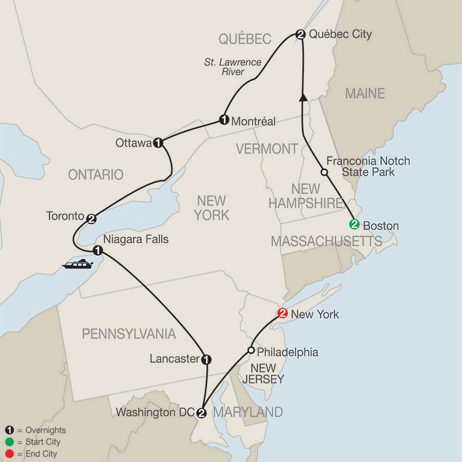Boston New York Washington DC Rail Tour Just America Northeast - Nyc city map portal