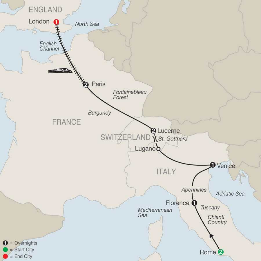 Winter Europe Tour Packages Globus - London map in europe