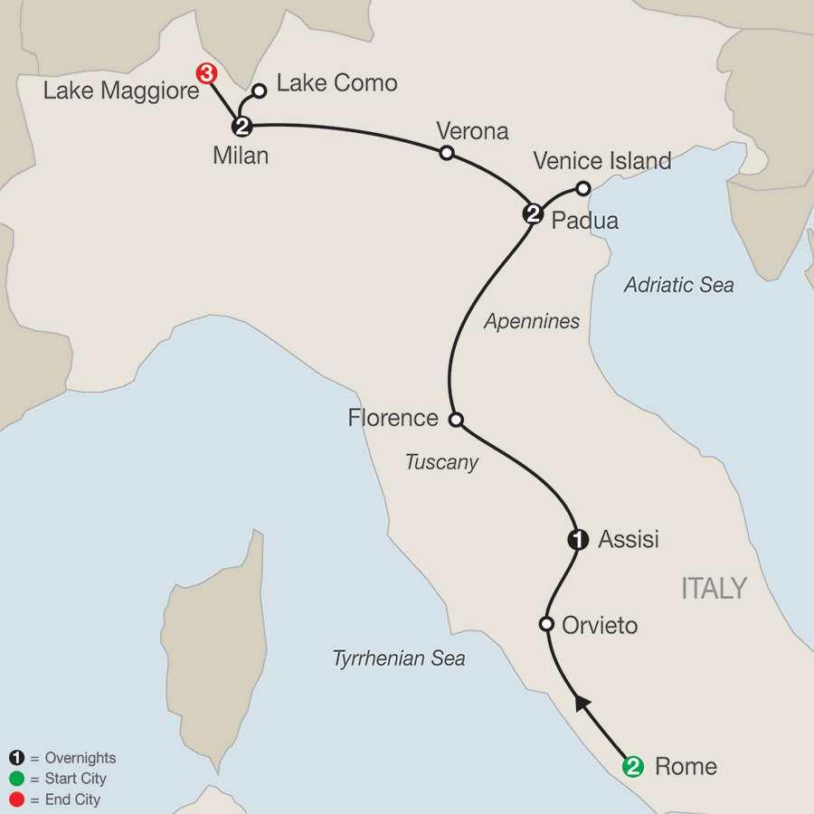 Italian Vista with Lake Maggiore map