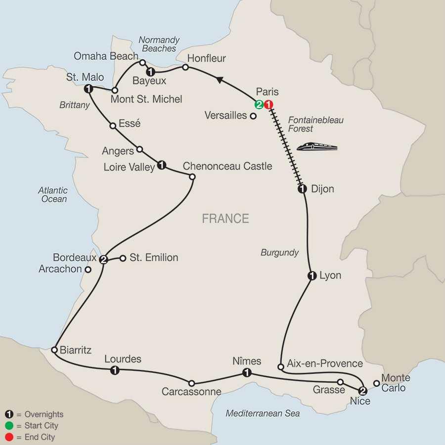 La France map