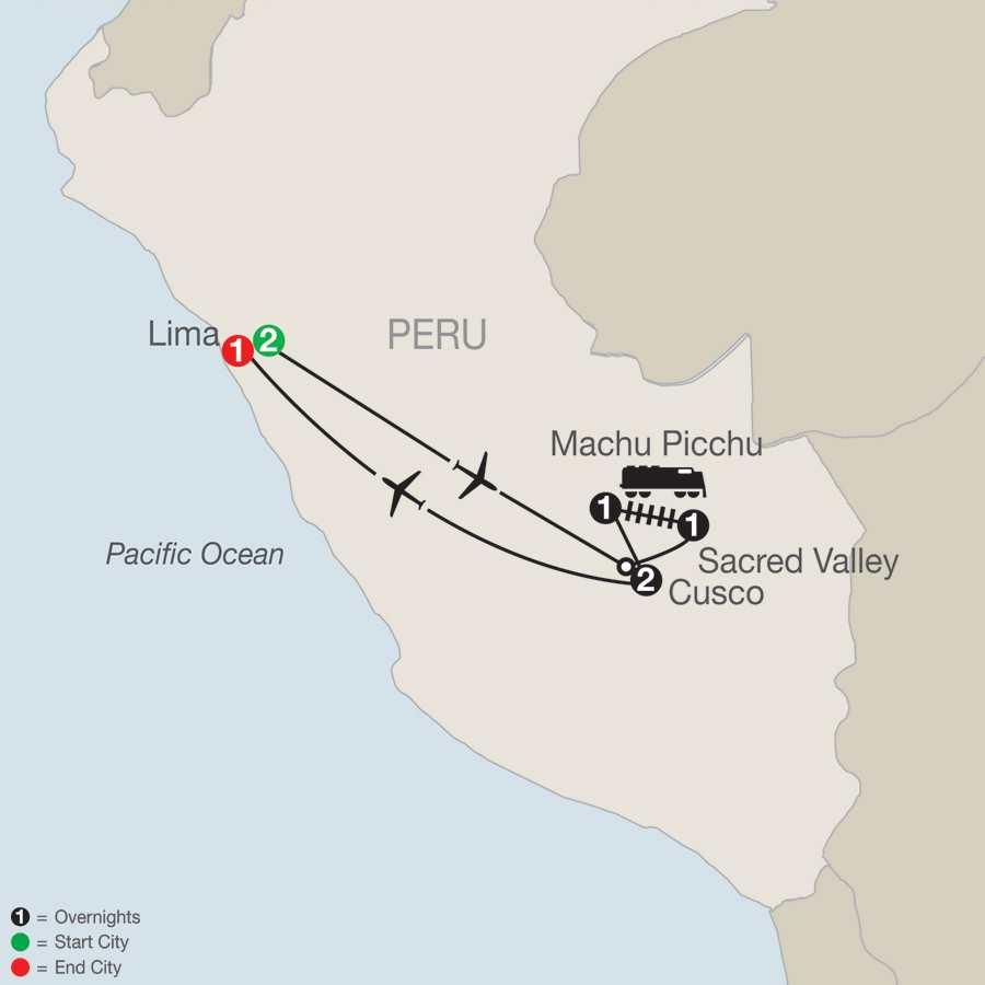 Peru Splendors map