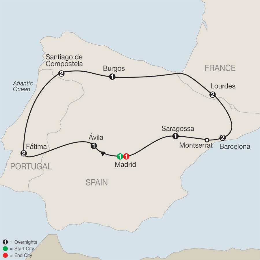 Marian Shrines of Europe – Faith-Based Travel map