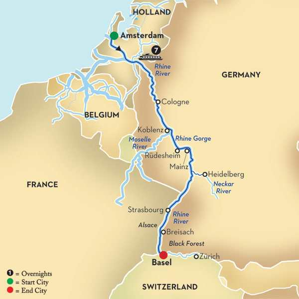 Cheap Rhine River Cruises: Romantic Rhine River Cruise