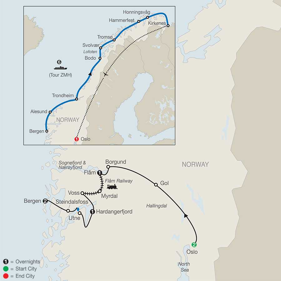 The Best Of Norway Tour Globus Escorted Travel - Norway map hammerfest