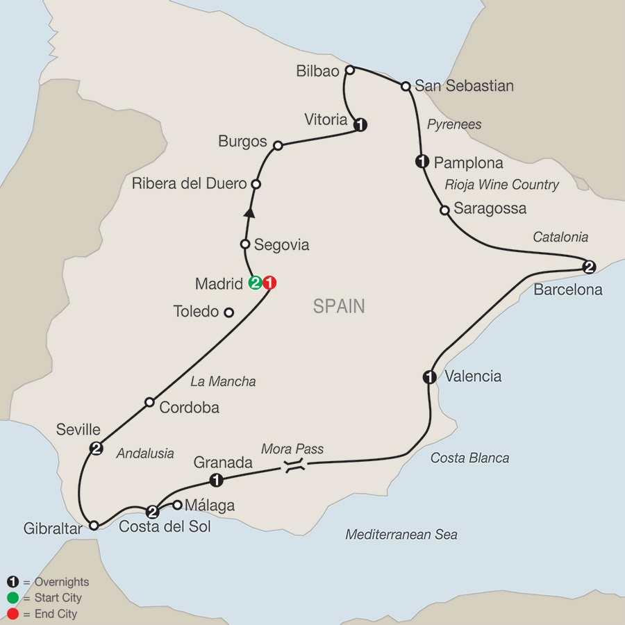 Spanish Fiesta map