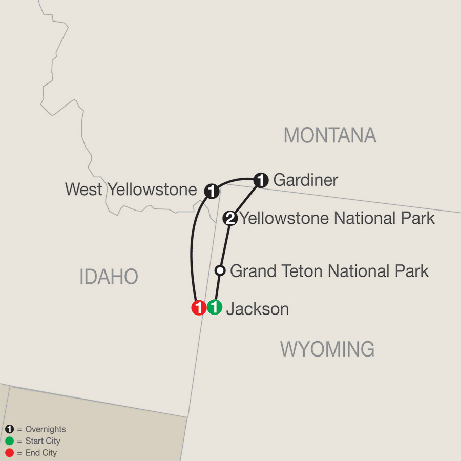 Yellowstone Winter Wonderland map