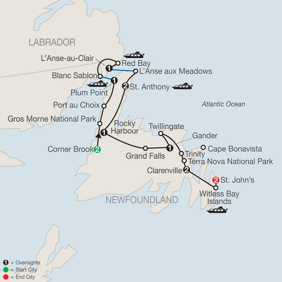 Labrador Newfoundland Tour Globus