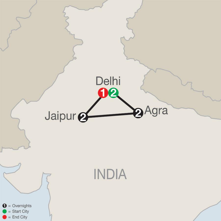 India Escape map