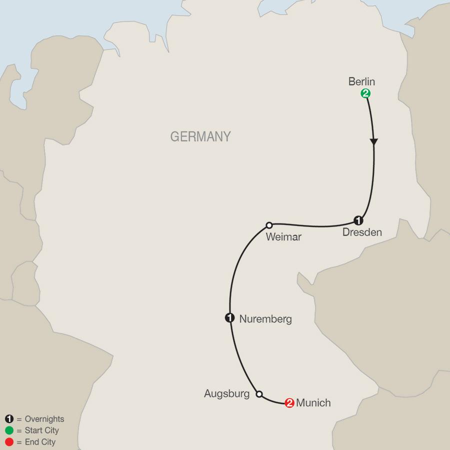 German Escape map