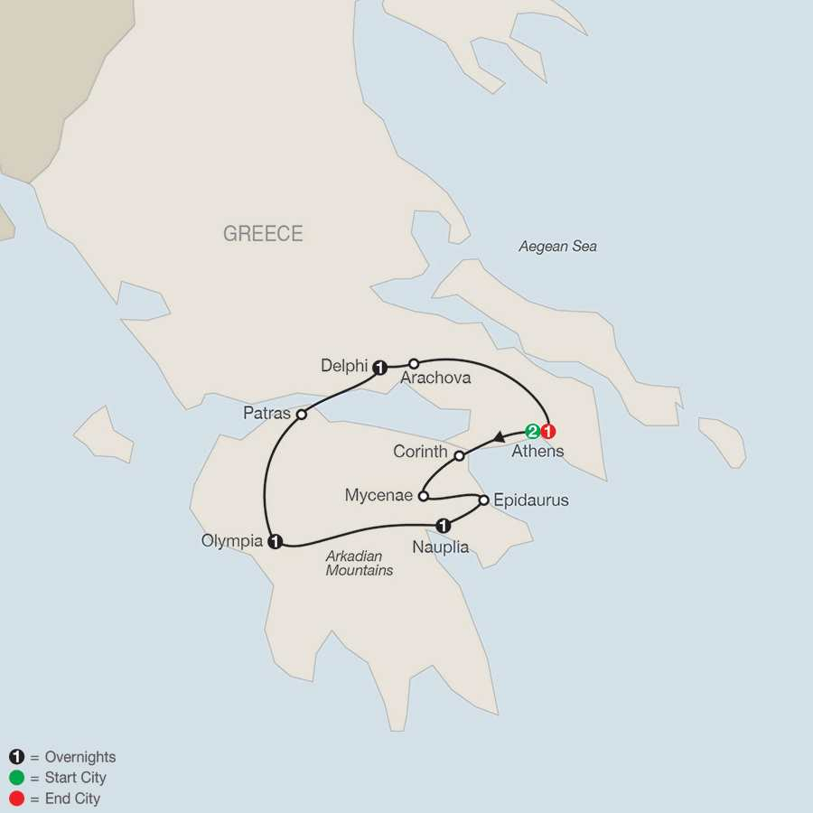 Greek Escape map