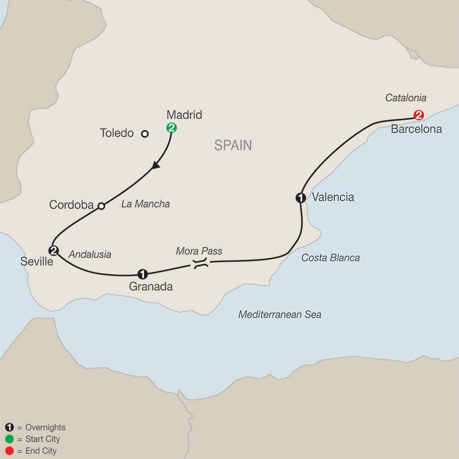 Spanish Escape map