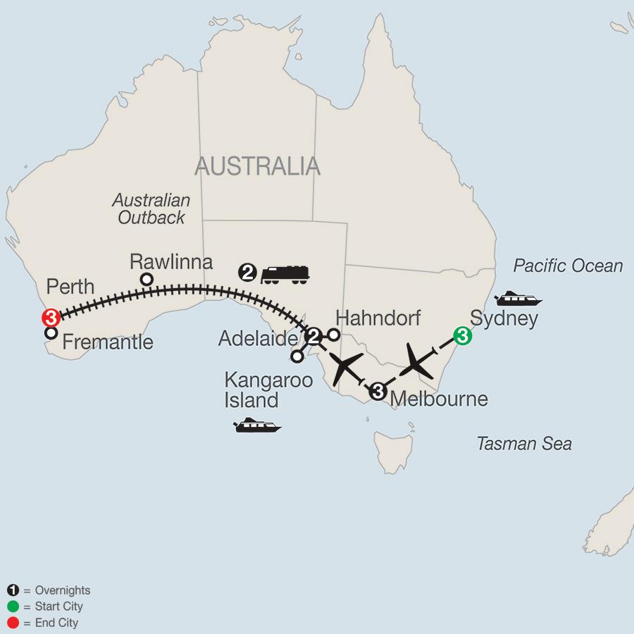 Australian Tour by Train Globus