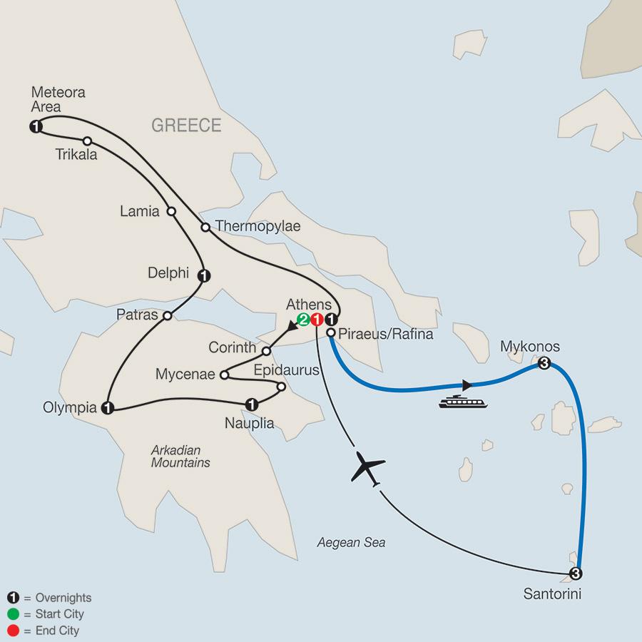 Classical Greece plus Island Hopper map