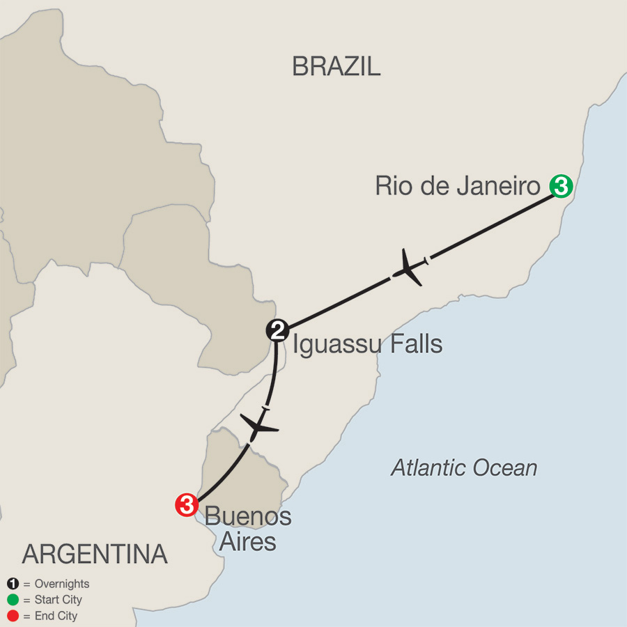 South American Getaway Map
