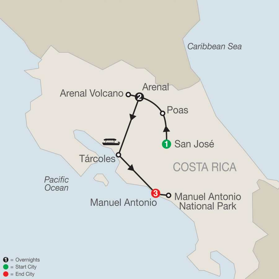 Costa Rica Explorer Map