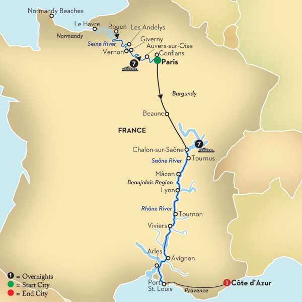 Macon France Map.Globus Escorted Tours Guided Vacations