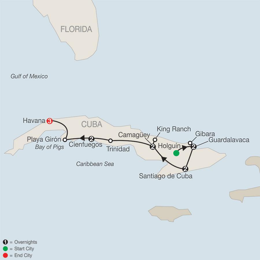 Cuba Panorama map