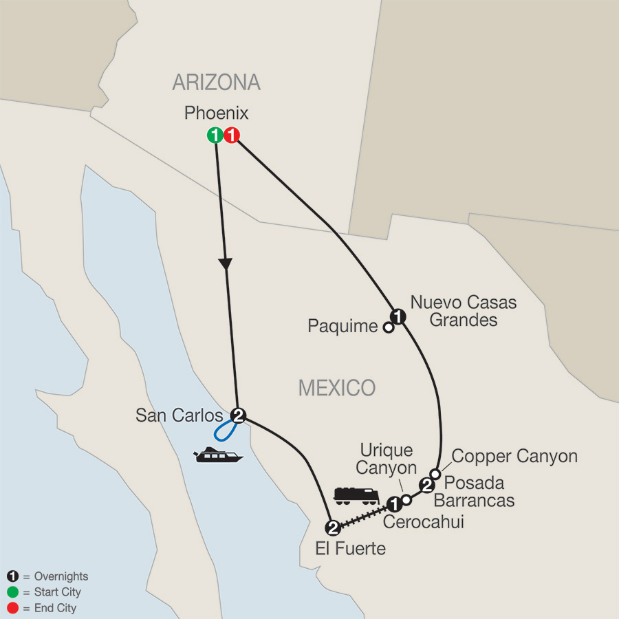 MAP - Mexico\'s Copper Canyon 2018