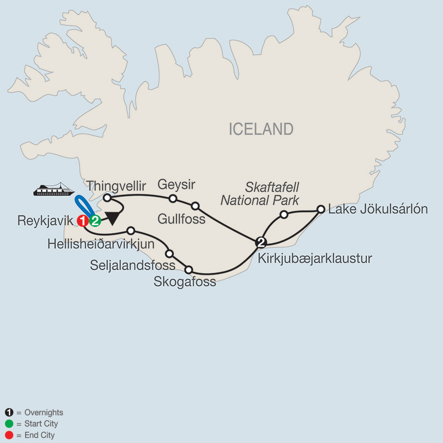 Gems of Iceland map