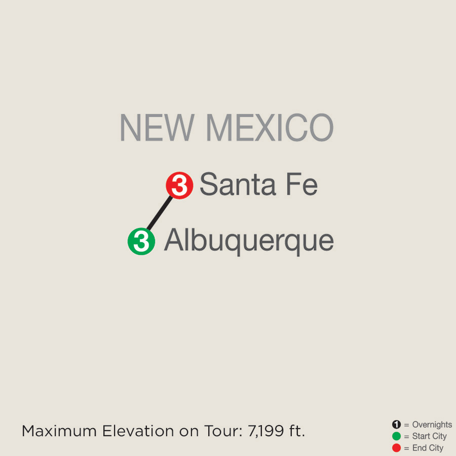 Albuquerque Balloon Fiesta with Santa Fe map