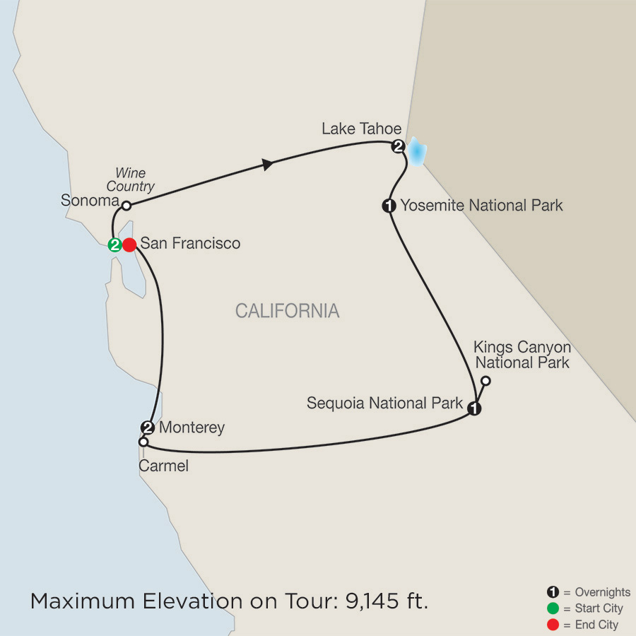Northern California Tour Globus California Tour Packages