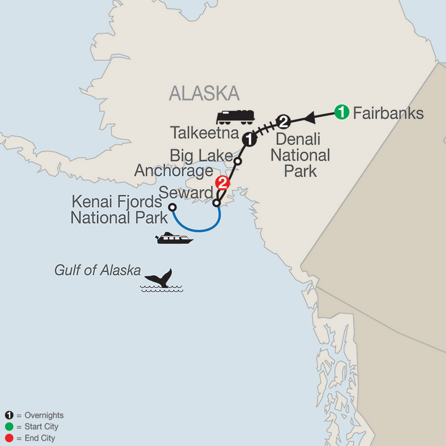 Bluff Alaska Map.Nature S Best Alaska Overview Globus