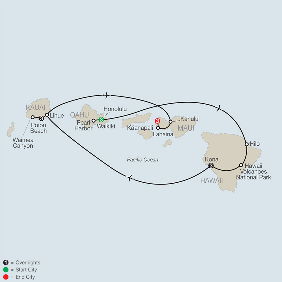 Grand Hawaii Vacation map