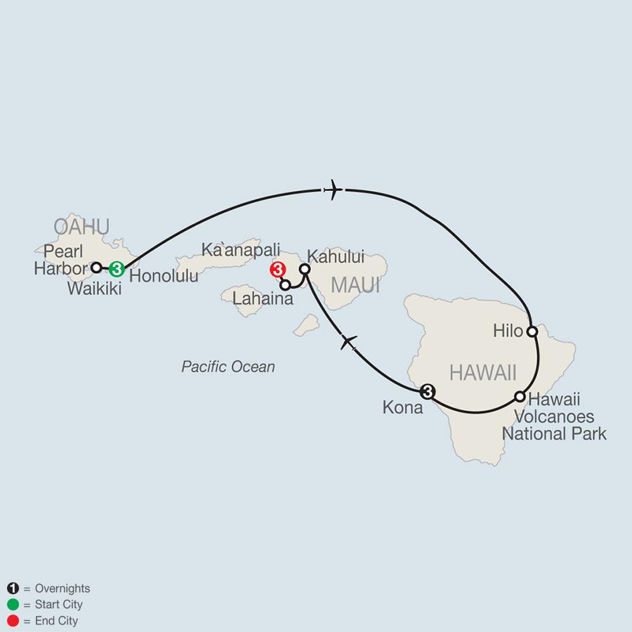 Best of the Hawaiian Islands map