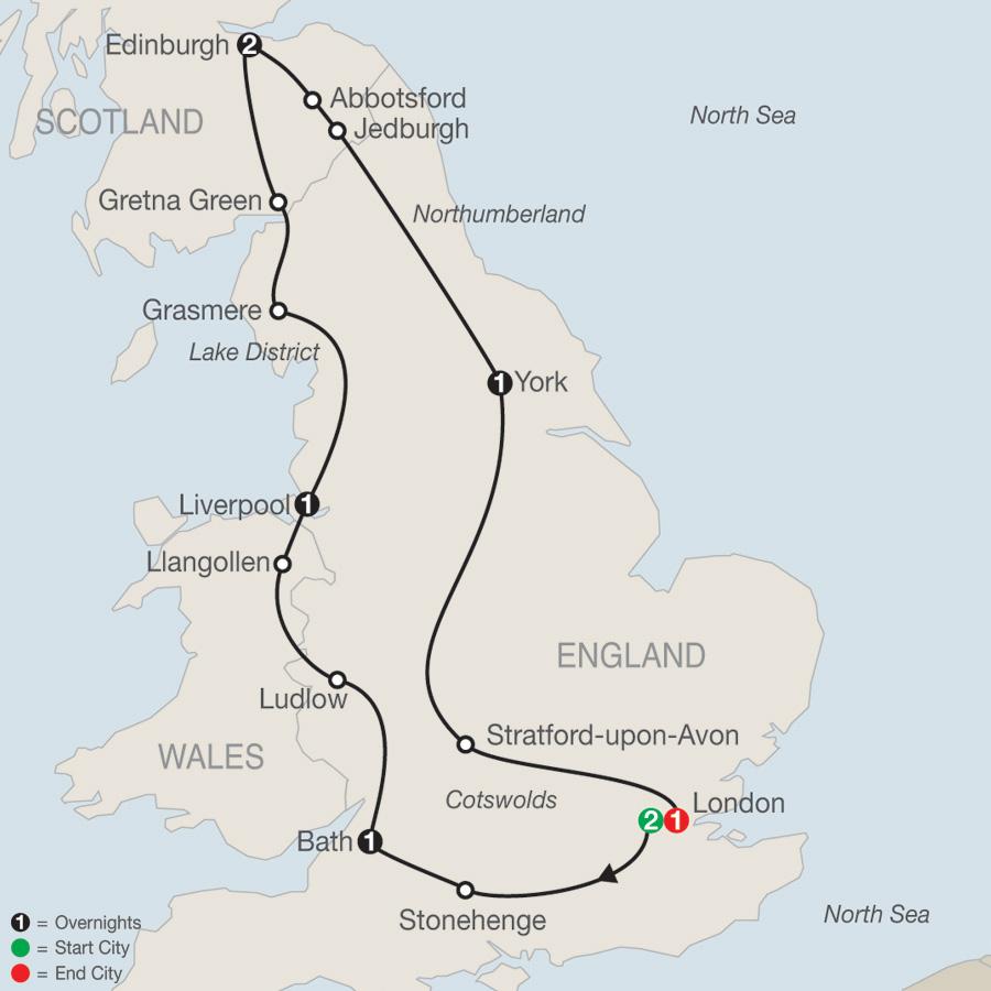 Britain Sampler map
