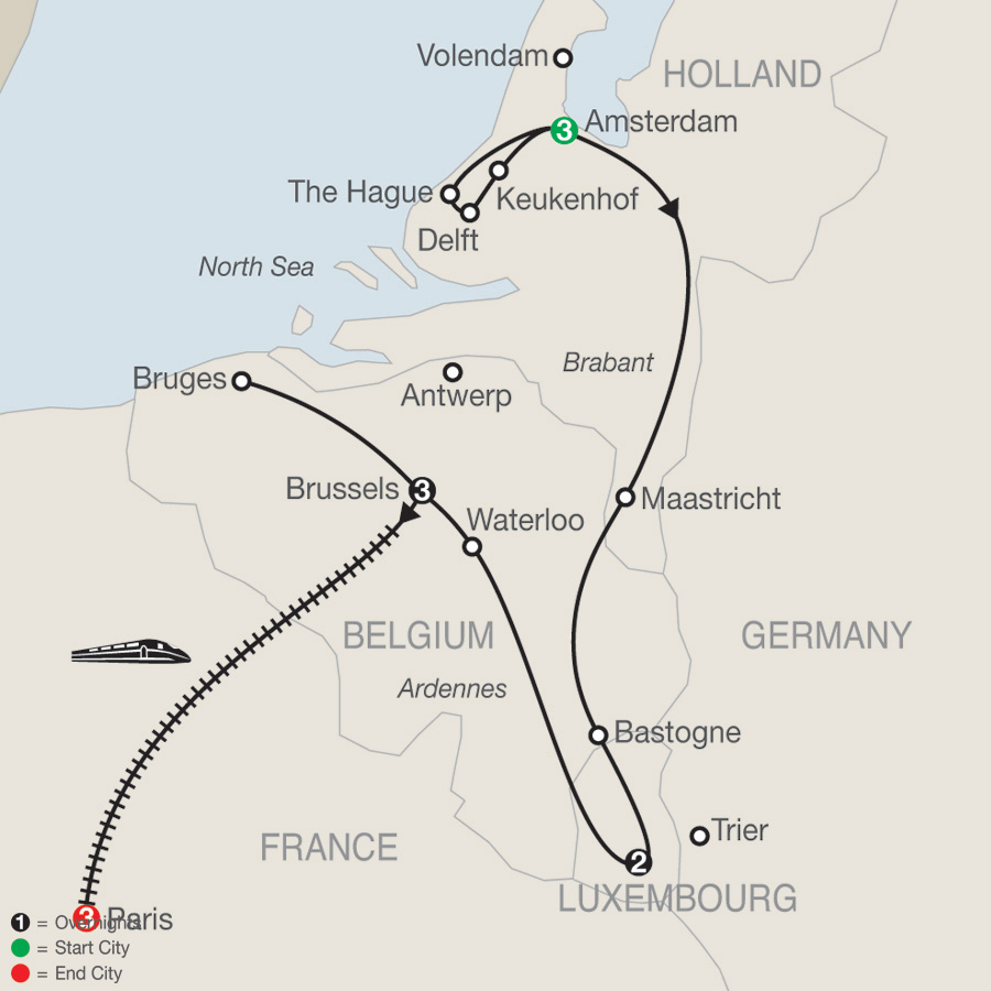 Map Of France And Luxembourg.Holland Luxembourg Belgium With Paris