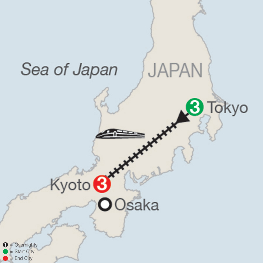 Japan Escape map