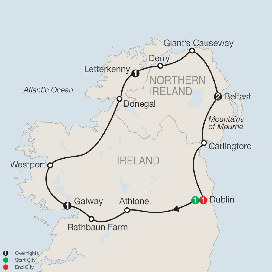North of Ireland Escape Map