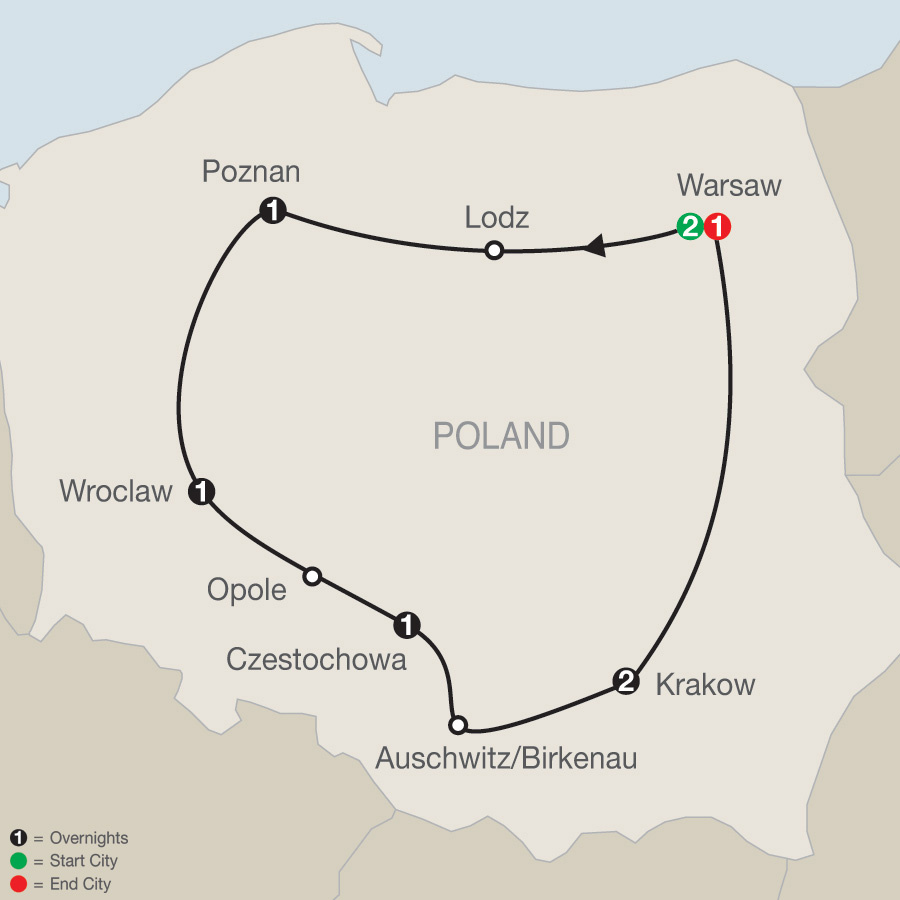 Polish Escape map