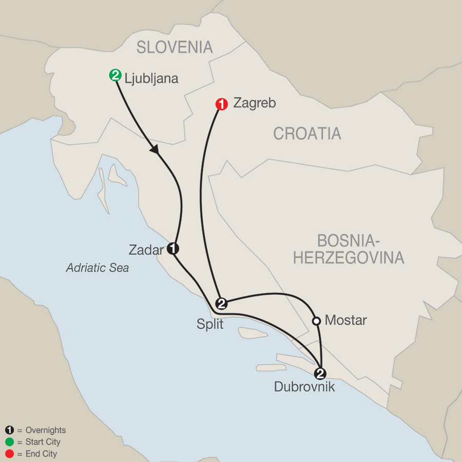 Croatian Escape map