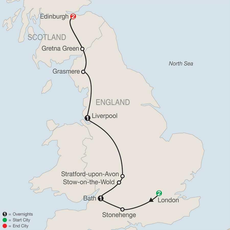 British Escape map