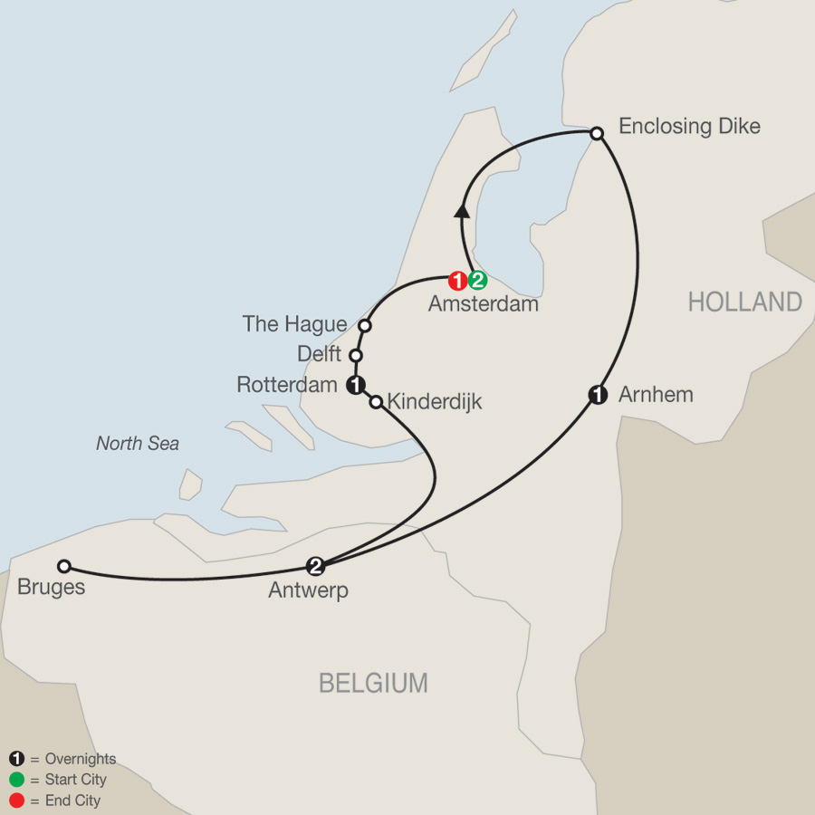 Dutch Escape map