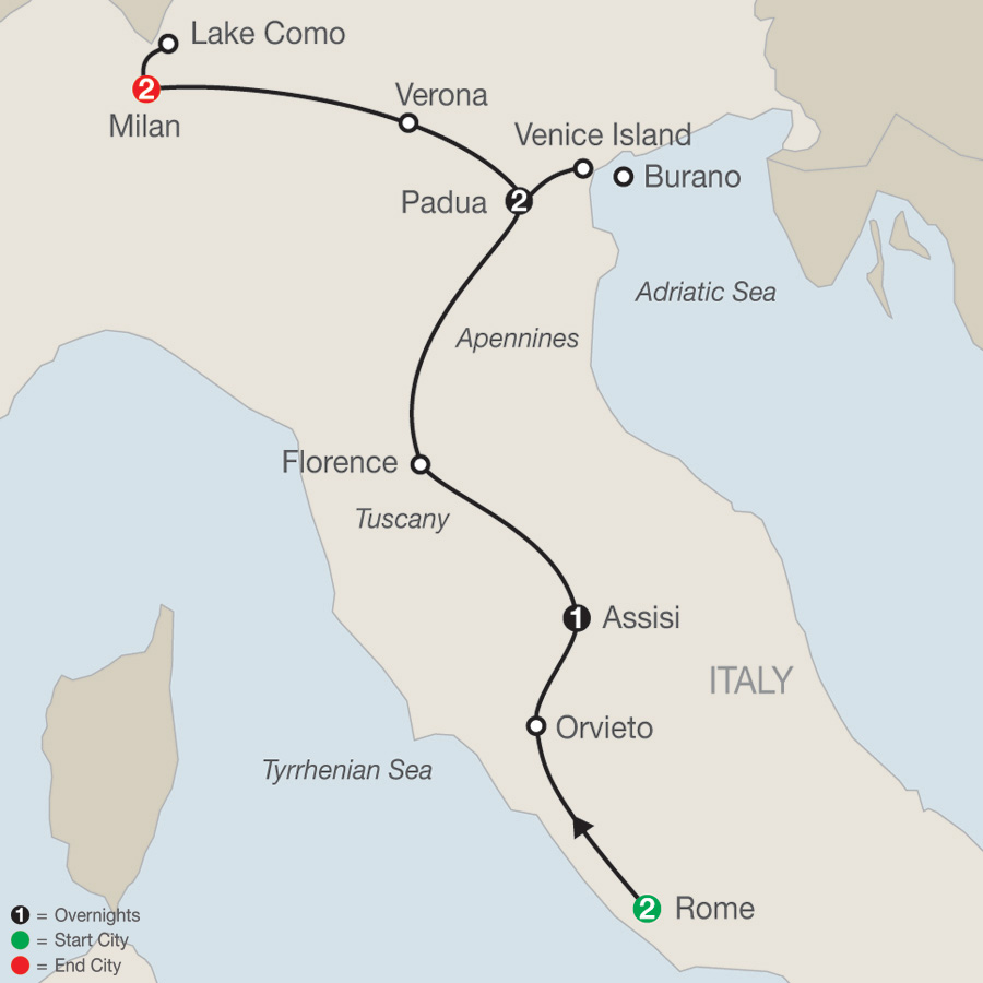 Map Italian Vista 2019