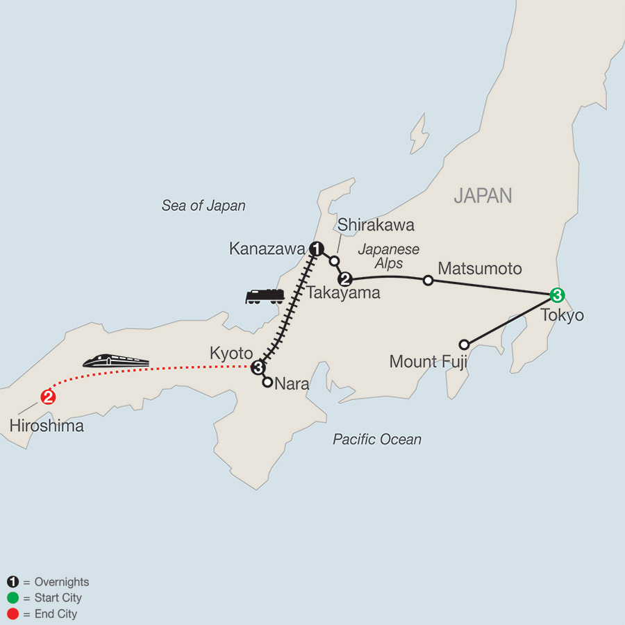 Discover Japan with Hiroshima map
