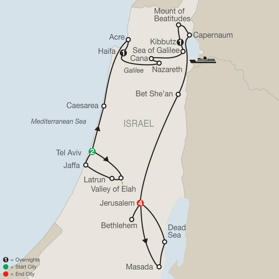 Fascinating Israel map