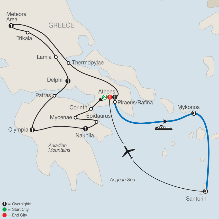 Classical Greece Plus Island Hopper map