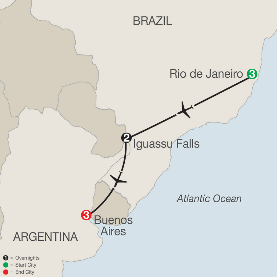 South America Getaway map