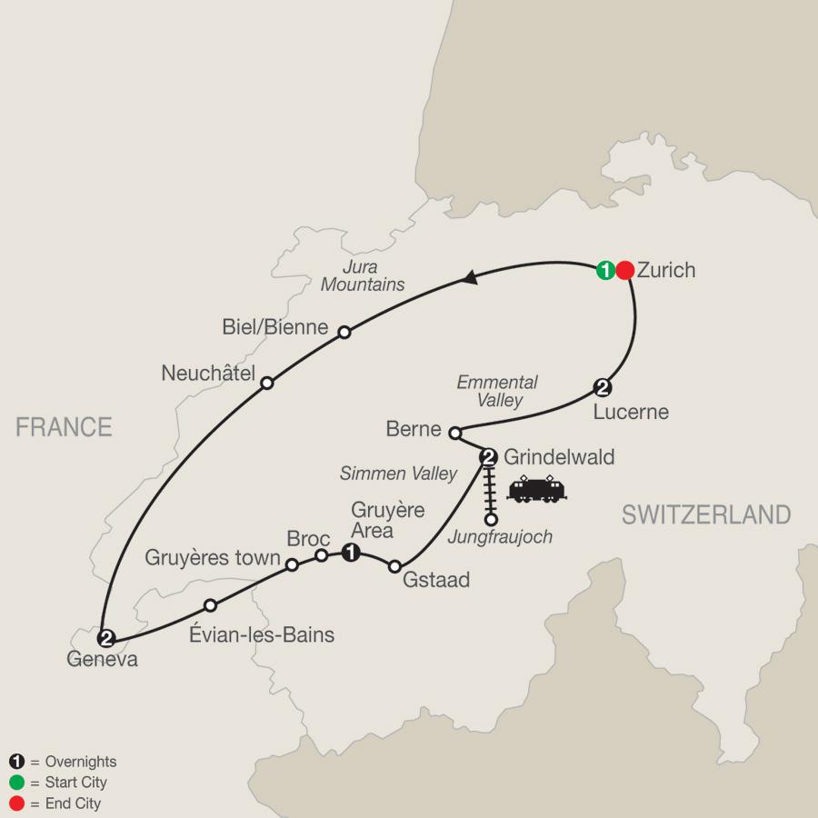 Spectacular Switzerland map