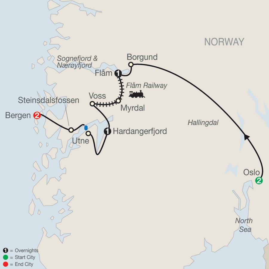 Best of Norway map
