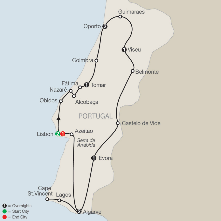 Image result for map of Nazaré cliffs and wine region