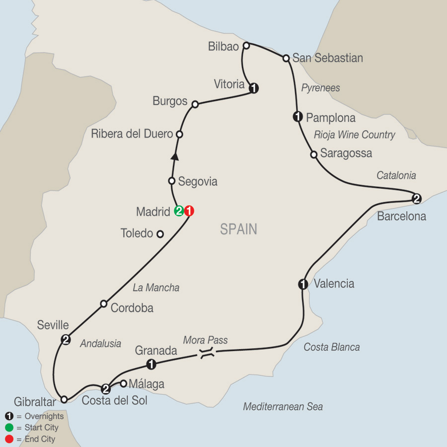 Spanish Fiesta map