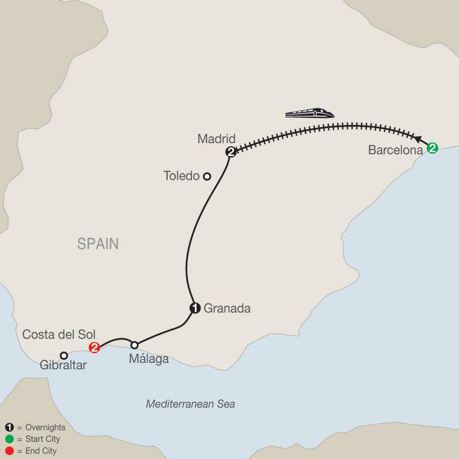 Spectacular Spain Map