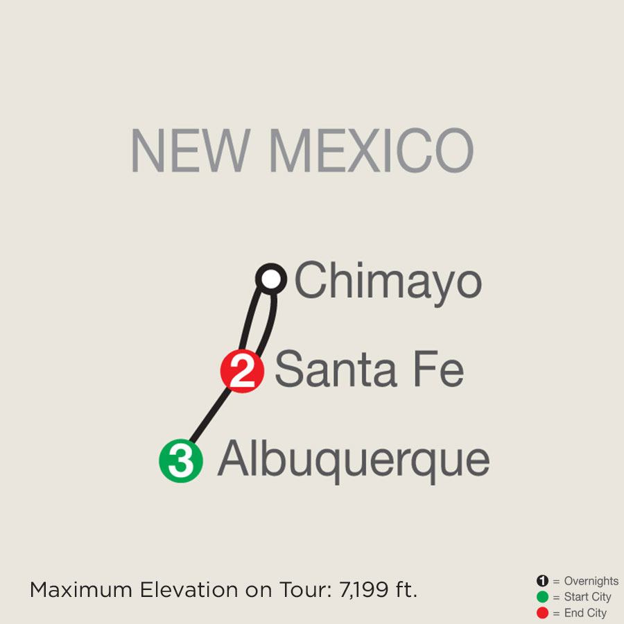 Enchanted New Mexico with Albuquerque Balloon Fiesta map
