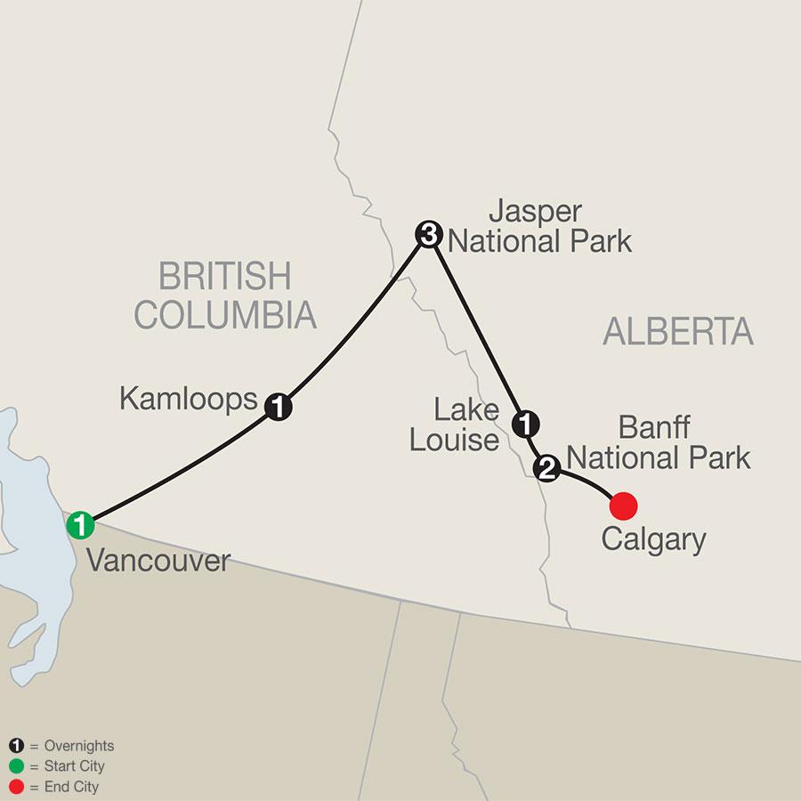 Jasper Dark Sky Festival Canadian Rockies Adventure map