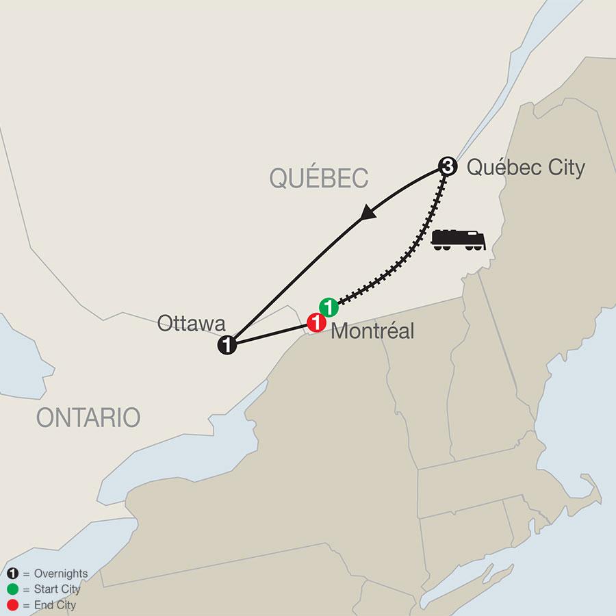 Québec Winter Carnival map