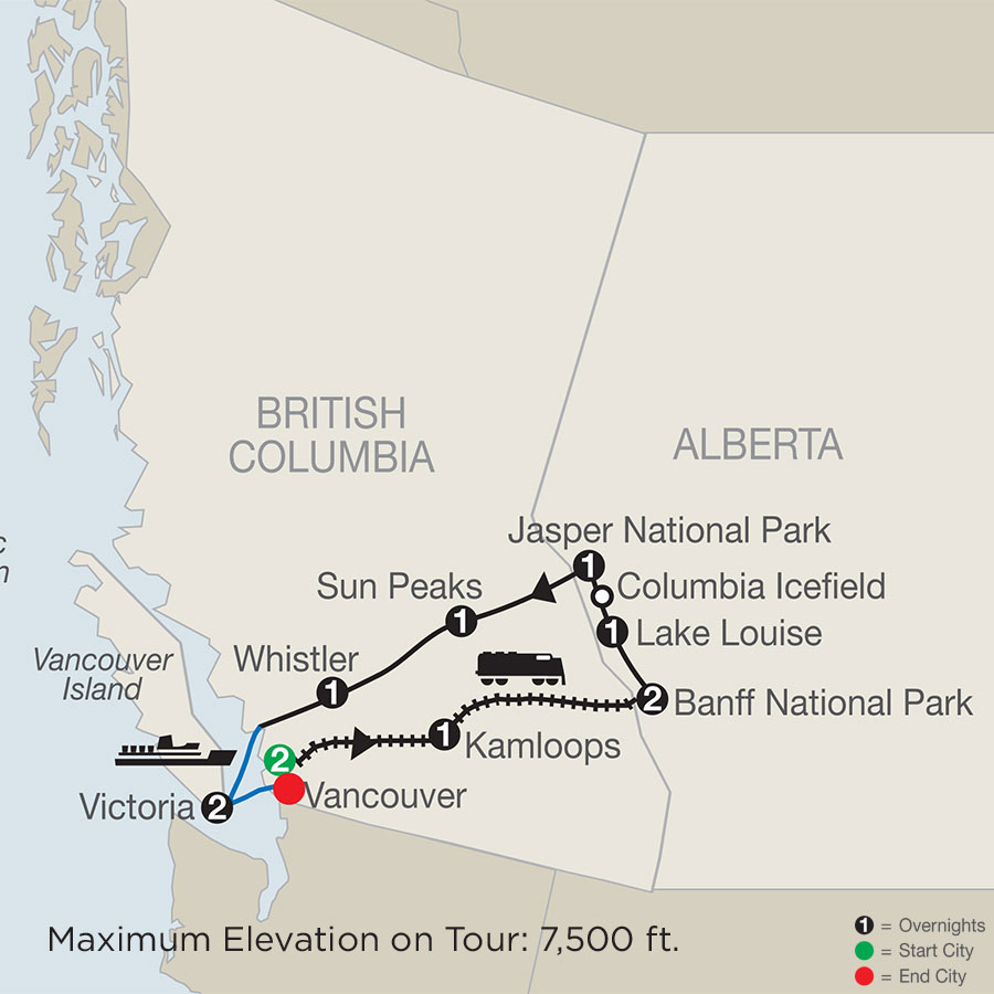 Spirit of the Rockies map